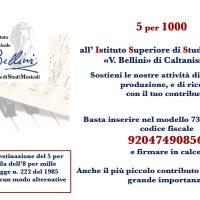 """5 per 1000 all' Istituto Superiore di Studi Musicali """"V. Bellini"""" di Caltanissetta"""