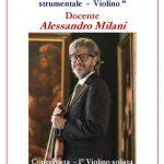 """Anno Accademico 2019/20 Corso Annuale in """"Interpretazione del repertorio strumentale – Violino"""""""