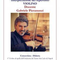 Violino: Corsi Annuali di Interpretazione del repertorio e Ammissioni Biennio Accademico di 2° livello – Docente Gabriele Pieranunzi