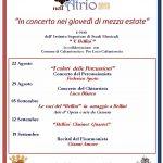 """Musica nell'Atrio 2019 """"In Concerto nei giovedì di mezza estate"""""""