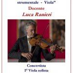 """Anno Accademico 2019/20 Corso Annuale in """"Interpretazione del repertorio strumentale – Viola"""""""